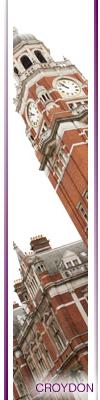 Croydon town hall clocktower
