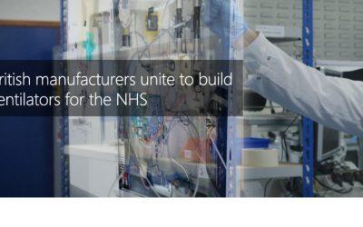 British manufacturers unite to build ventilators for the NHS